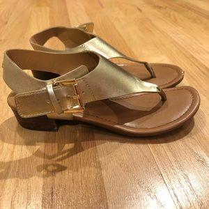Tommy Hilfiger gold sandals, size 7
